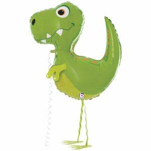 Ходячий шар из фольги Динозавр