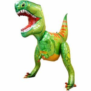 Ходячий шар из фольги Тиранозавр зеленый