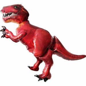 Ходячий шар из фольги Тиранозавр коричневый