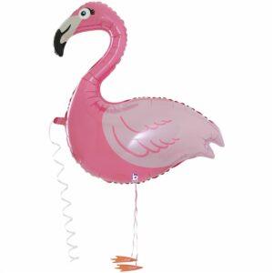 Ходячий шар из фольги Фламинго