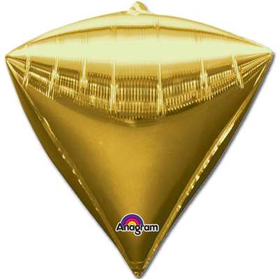 Шар из фольги Алмаз металлик золото