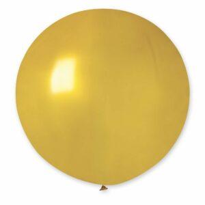 Шар воздушный большой металлик золотой