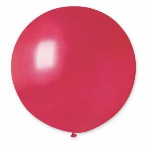 Шар воздушный большой металлик красный