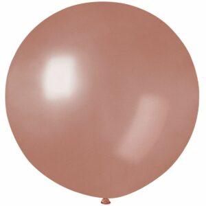 Шар воздушный большой металлик розовое золото