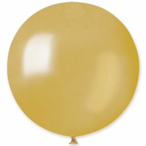 Шар воздушный большой металлик сатин золотой