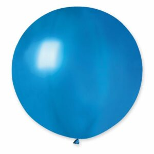 Шар воздушный большой металлик синий