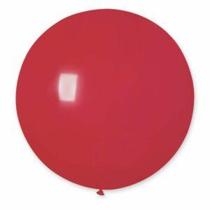 Шар воздушный большой пастель красный