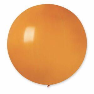Шар воздушный большой пастель оранжевый
