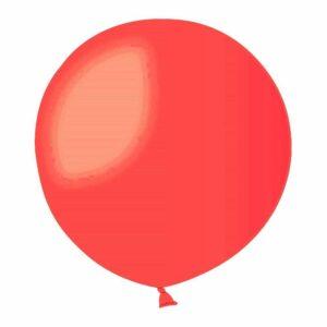 Шар воздушный большой пастель ярко-красный