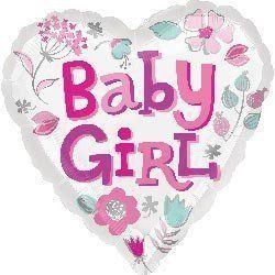 Шар из фольги Сердце для Девочки