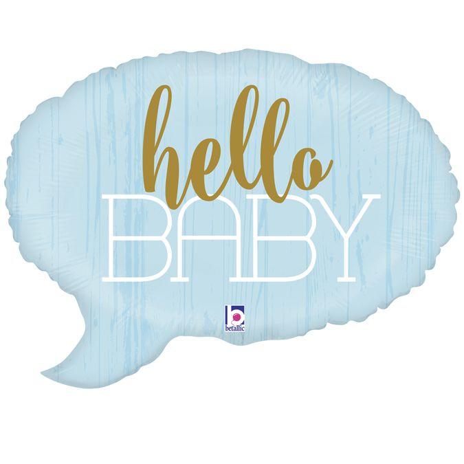 Шар из фольги Облако голубое привет малыш