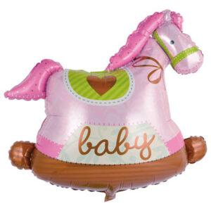 Шар из фольги Лошадка розовая