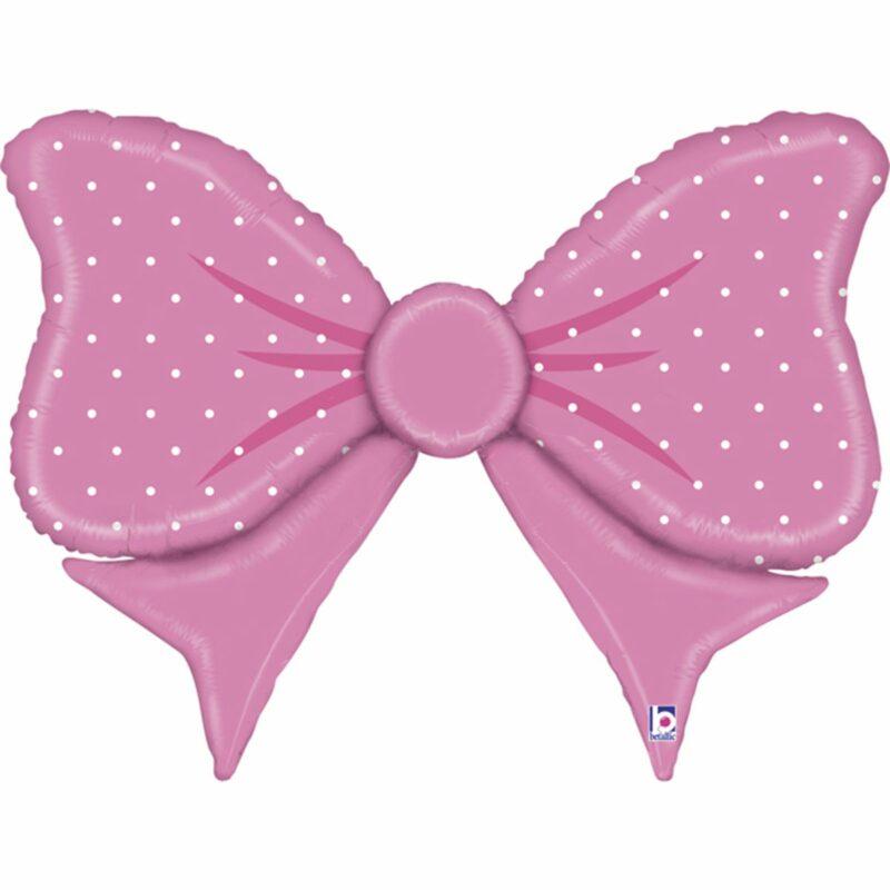 Шар из фольги Бантик розовый