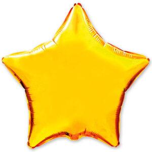 Шар из фольги Звезда металлик золото
