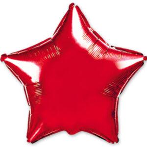 Шар из фольги Звезда металлик красная