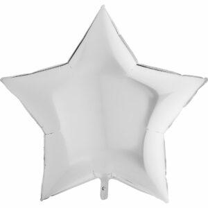 Шар из фольги Звезда белая