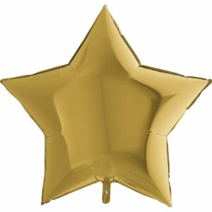 Шар из фольги Звезда бронзовая