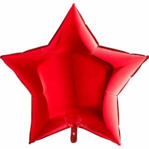 Шар из фольги Звезда красная