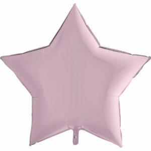 Шар из фольги Звезда розовая