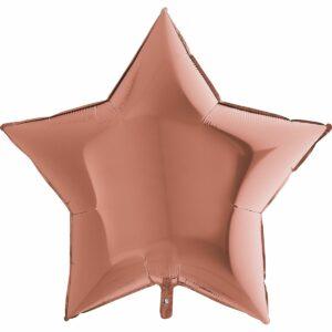 Шар из фольги Звезда розовое золото