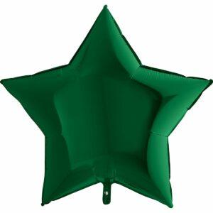 Шар из фольги Звезда зеленая