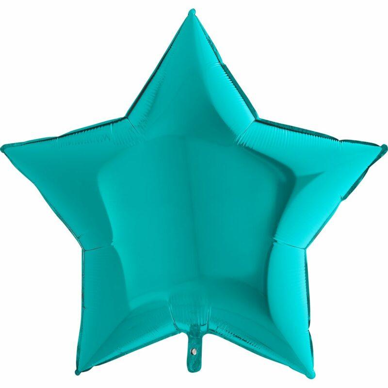 Шар из фольги Звезда тиффани