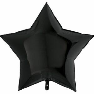 Шар из фольги Звезда черная