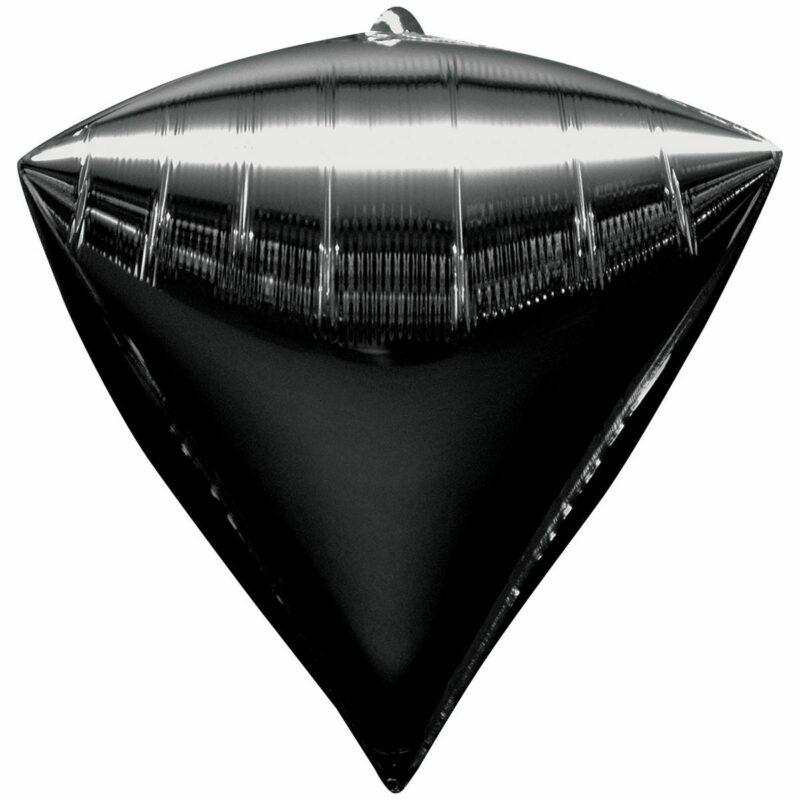 Шар из фольги Алмаз металлик черный