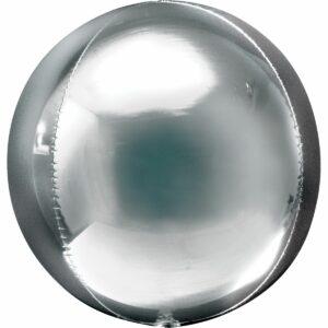 Шар из фольги Сфера металлик серебро