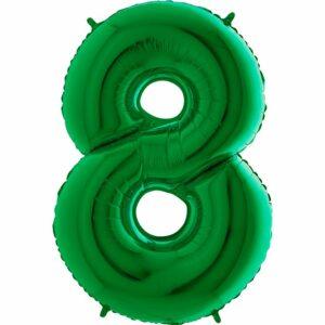 Шар из фольги Цифра 8 Зеленая