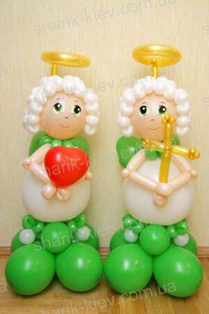 Ангелочки из воздушных шаров