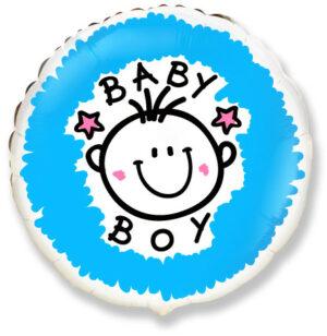 Шар из фольги Круг Baby Boy