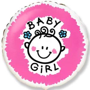 Шар из фольги Круг Baby Girl