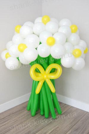 Букет Большие Ромашки из воздушных шаров