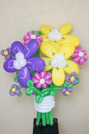Букет Луговые Цветы из воздушных шаров
