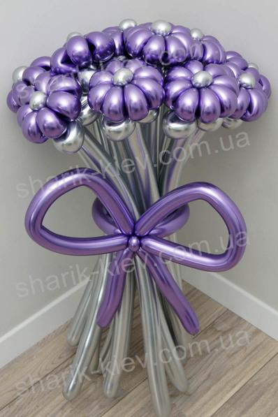 Букет Ромашки Хром из воздушных шаров