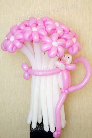 Букет Розовая Пантера из воздушных шаров