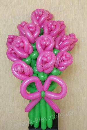 Букет Розовые Розы из воздушных шаров