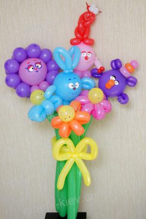 Букет Смешарики из воздушных шаров