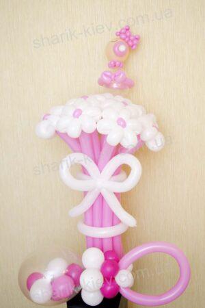 Набор Спасибо за доченьку из воздушных шаров