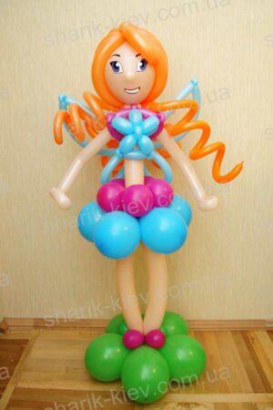 Кукла Винкс (вариант 1) из воздушных шаров