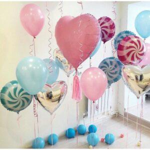Фотозона Конфетная из воздушных шаров