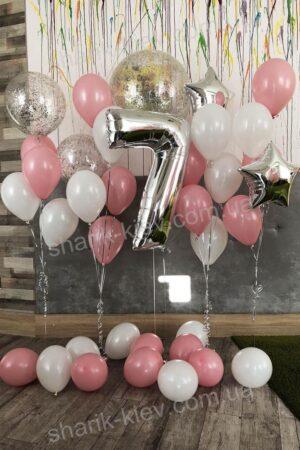 Фотозона Детская из воздушных шаров