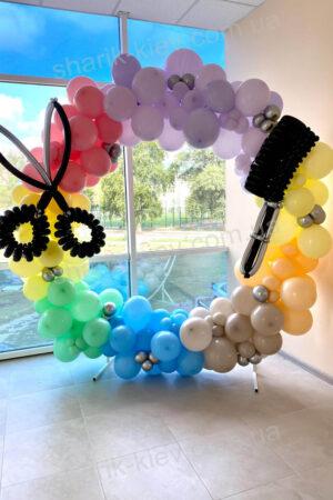 Фотозона Круглая из воздушных шаров