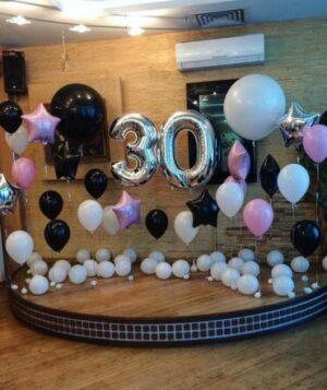 Фотозона 30 лет из воздушных шаров