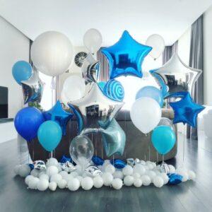 Фотозона Для мальчика из воздушных шаров