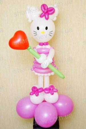 Hello Kitty из воздушных шаров