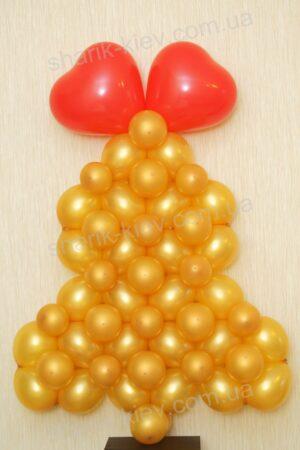 Колокольчик подвесной из воздушных шаров