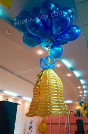 Колокольчик с шарами из воздушных шаров