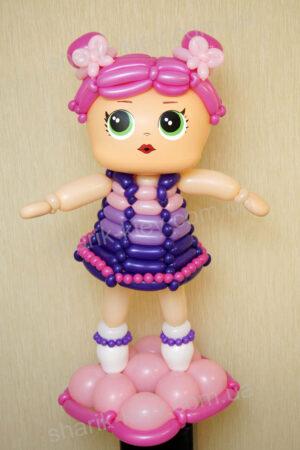 Кукла Lol из воздушных шаров